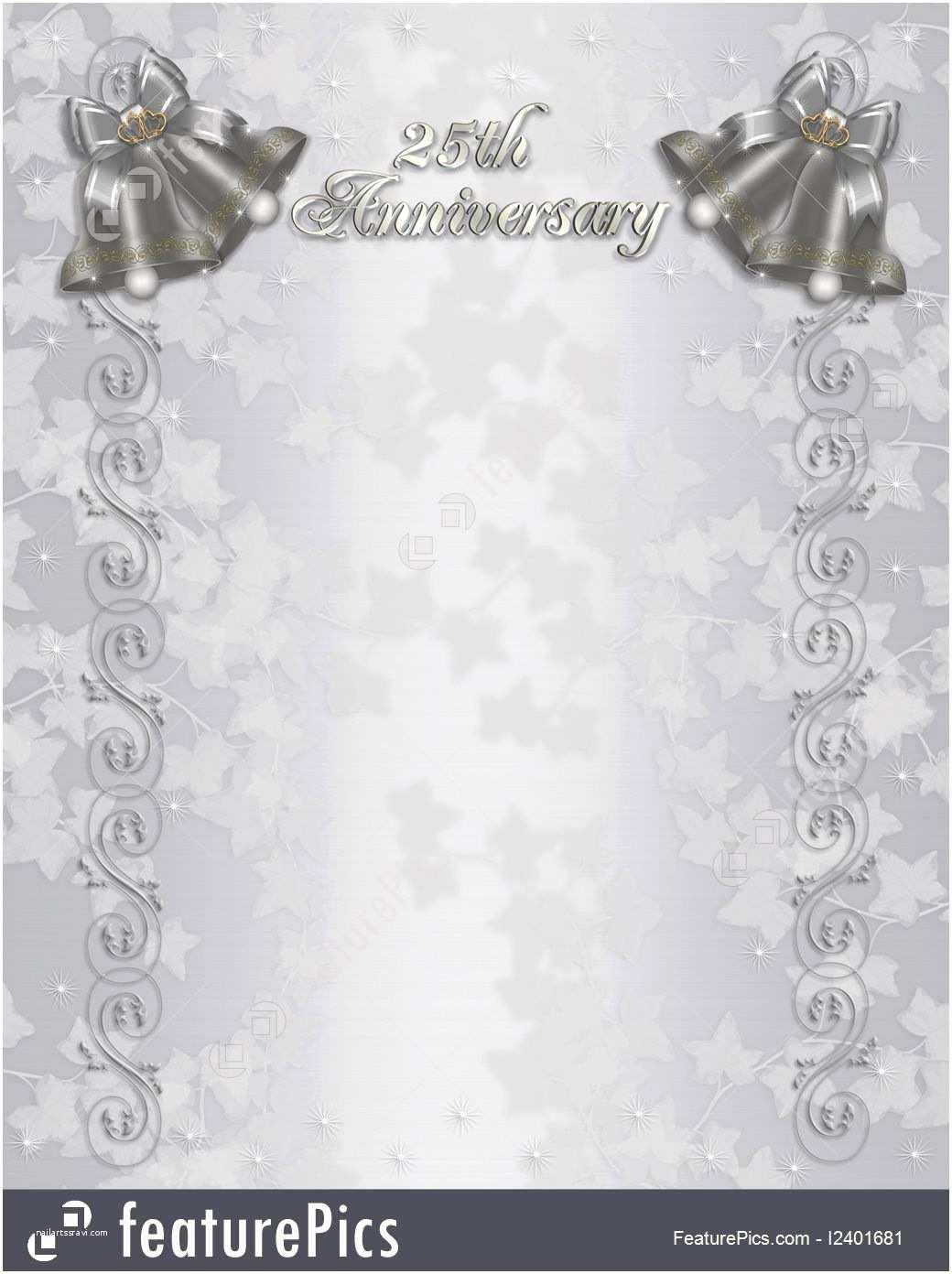 25th Wedding Anniversary Invitation Cards Free Download Free 25th Wedding Anniversary Invitations Free