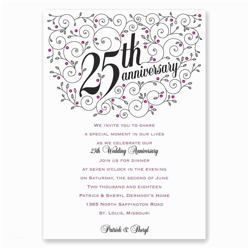 25th Wedding Anniversary Invitation S Free Download Wedding Invitation Marriage Anniversary Invitation