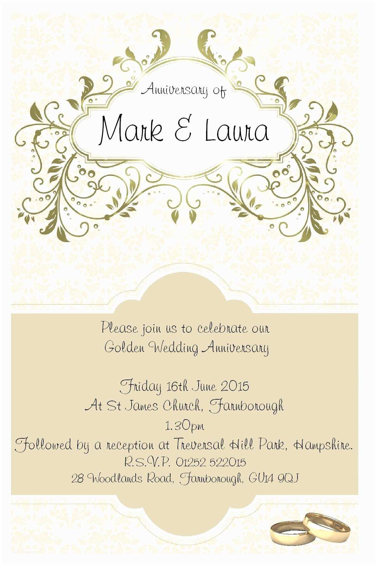 25th Wedding Anniversary Invitation Cards Free Download Wording for Golden Wedding Invitations Uk – Mini Bridal