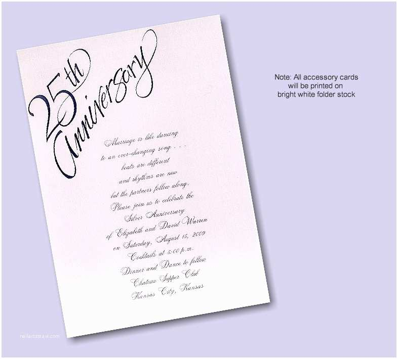25th Wedding Anniversary Invitation Cards Wedding Invitation Wording 25th Wedding Anniversary
