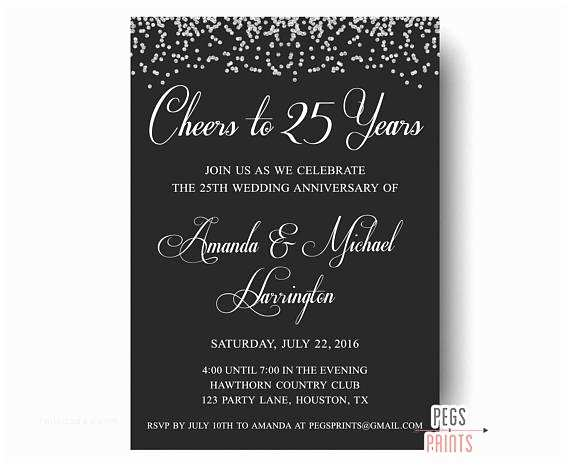 25th Wedding Anniversary Invitations 25th Wedding Anniversary Invitations Printable 25th
