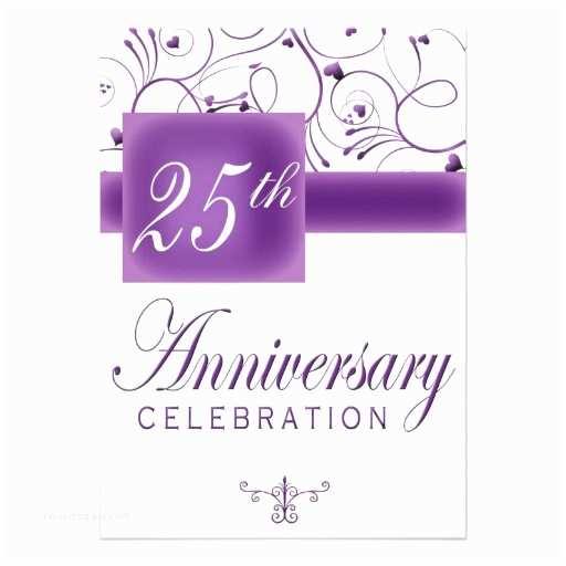 "25th Wedding Anniversary Invitations 25th Wedding Anniversary Party Invitation 5"" X 7"