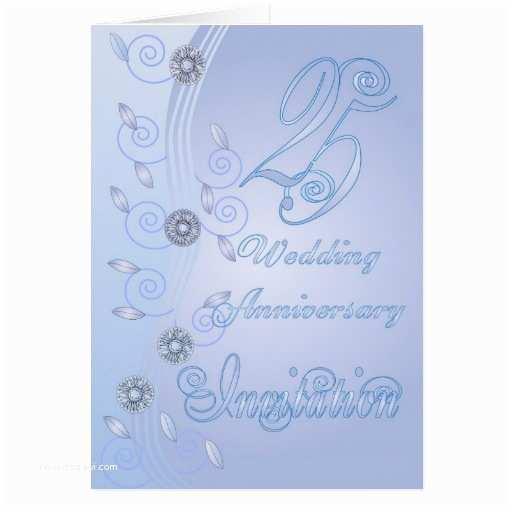 25th Wedding Anniversary Invitations Wedding Invitation Wording 25th Wedding Anniversary