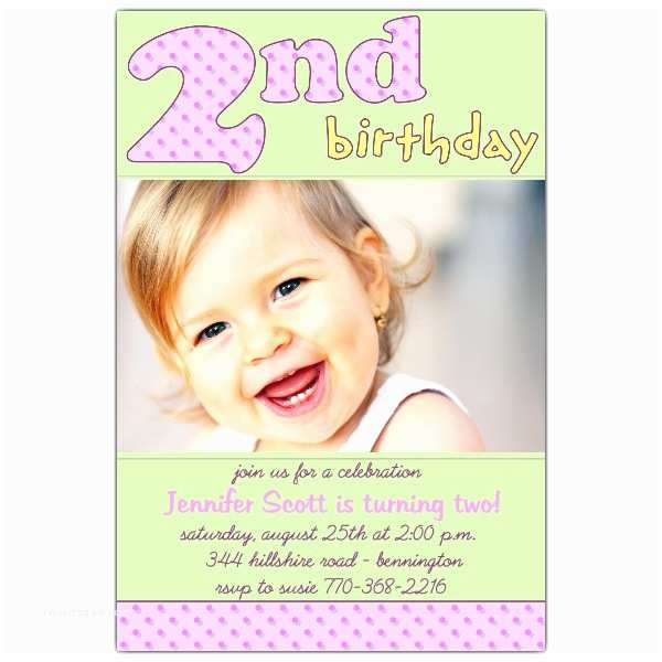 2nd Birthday Invitation Wording Cards