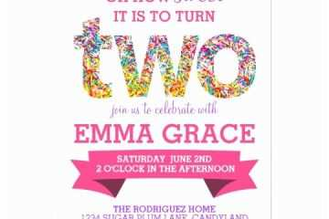 2nd Birthday Invitation Wording Candy Theme Party
