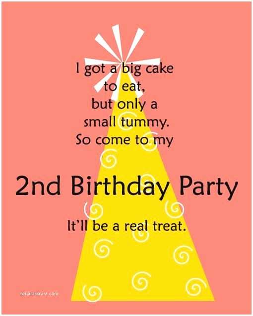 2nd Birthday Invitation Wording Pin by Truly Happy On Birthday