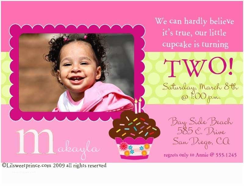 2nd Birthday Invitations 2nd Birthday Invitation A Birthday Cake