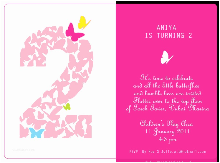 2nd Birthday Invitations Quotes For Girl Quotesgram