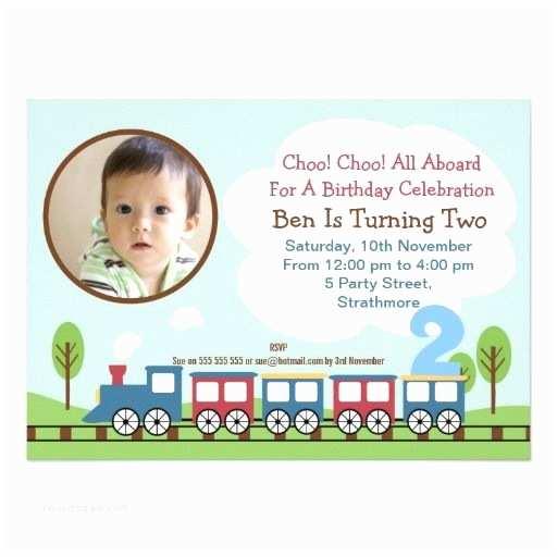 2nd Birthday Invitations Boys Train 2nd Birthday Invitation