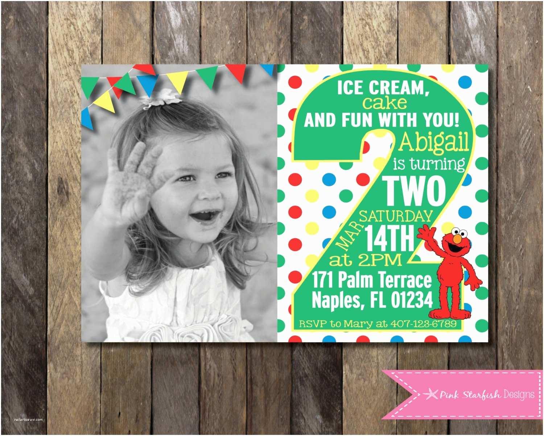 2nd Birthday Invitations Sesame Street 2nd Birthday Invitations