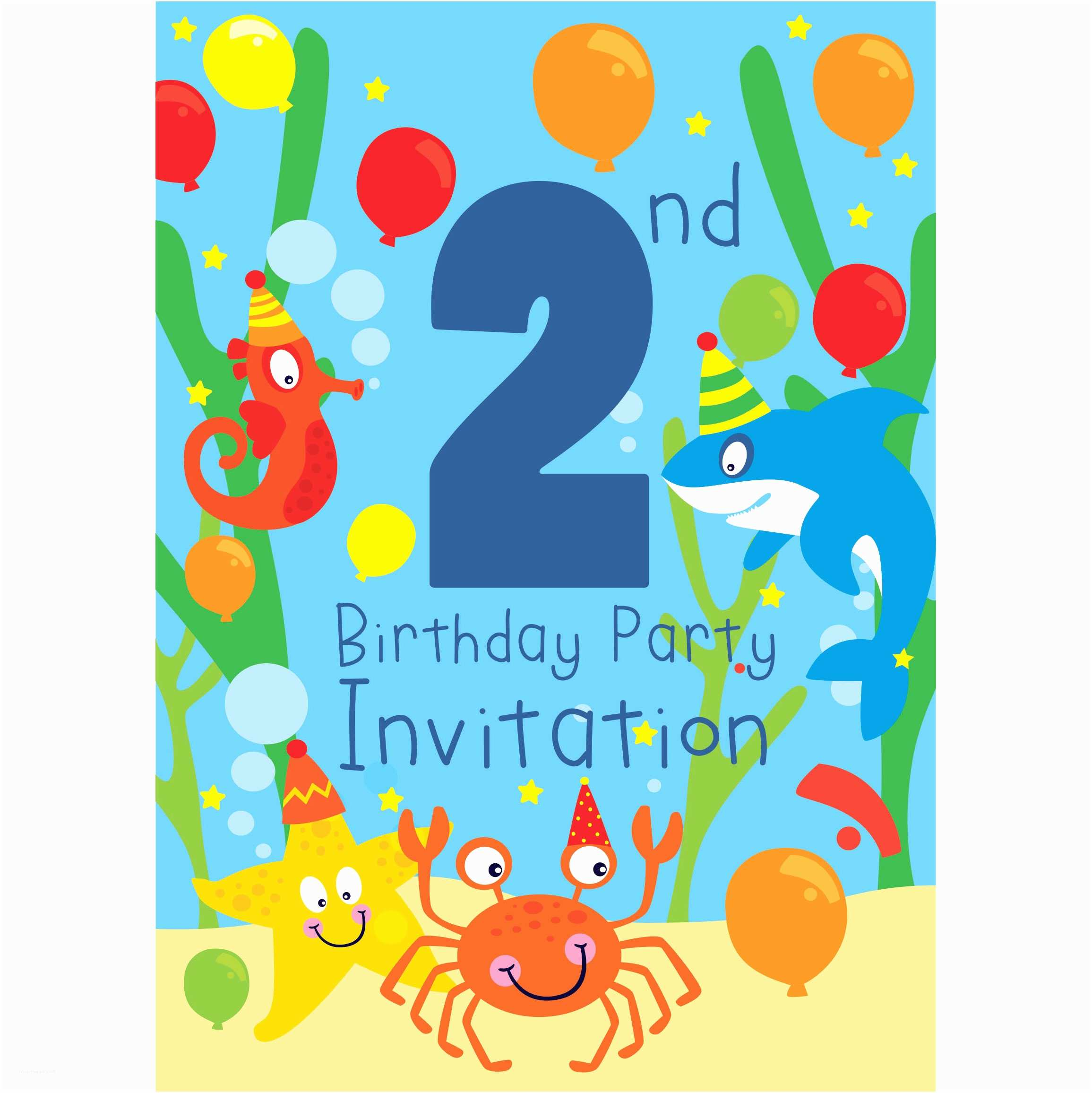 2nd Birthday Party Invitations 2nd Birthday Party Supplies