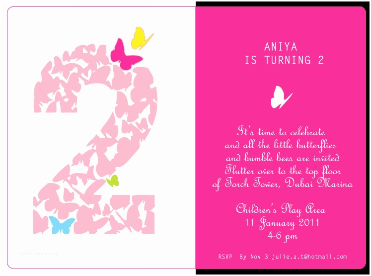 2nd Birthday Party Invitations 2nd Birthday Quotes for Girl Quotesgram