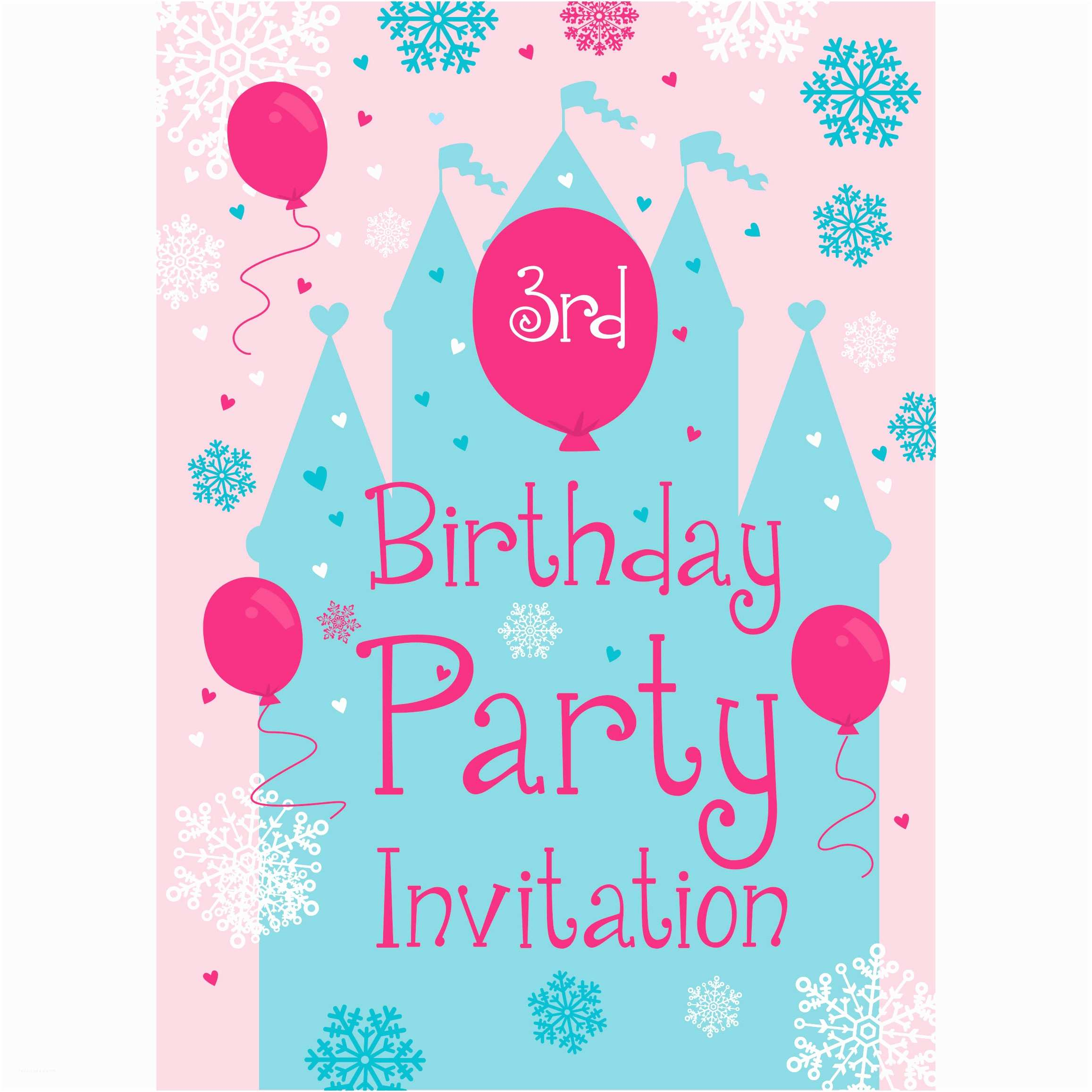 2nd Birthday Party Invitations 3rd Birthday Party Supplies