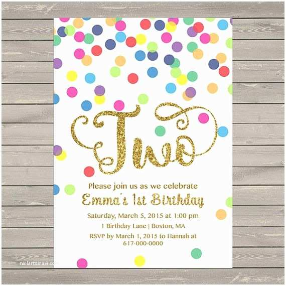 2nd Birthday Party Invitations Best 25 Ideas On Pinterest