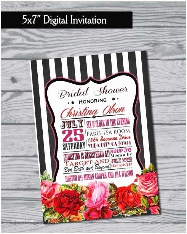 3 In 1 Wedding Invitations Bridal Shower Invitation Birthday Invitation Baby