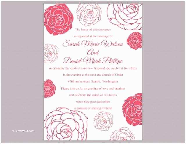 3 In 1 Wedding Invitations Diy Wedding Invitation Template Editable Word File Instant