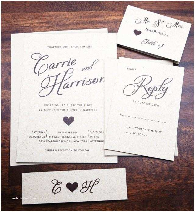 3 In 1 Wedding Invitations Rustic Wedding Invitation Wedding Invitations Elegant