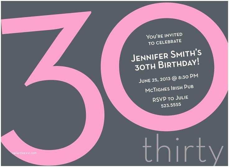 30th Birthday Invitation 20 Interesting Invitations Themes Wording