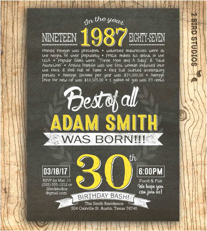 30th Birthday Invitation 30th Birthday Invitation Surprise 30th Birthday Invite Diy