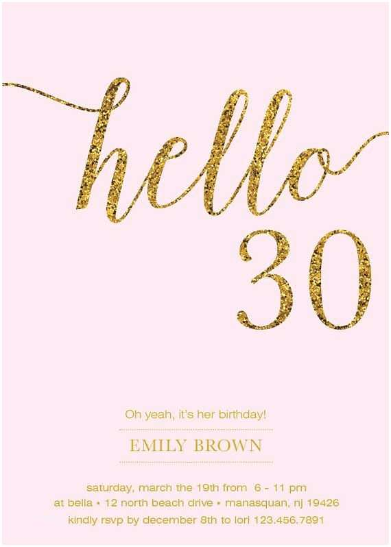 30th Birthday Invitation Best 25 30th Birthday Cards Ideas On Pinterest