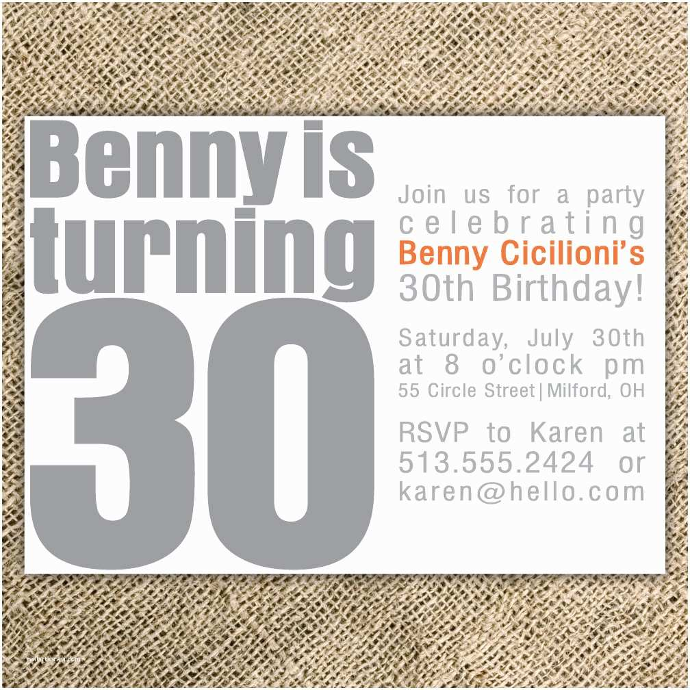 30th Birthday Invitation Wording Party