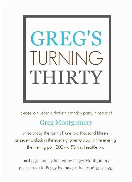 30th Birthday Invitation Wording Birthday Invitation Template 30th Birthday