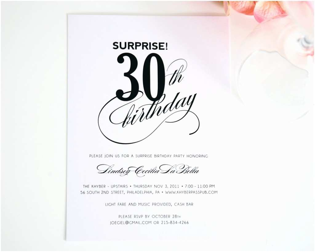 30th Birthday Invitation Wording Wording for 30th Anniversary Invitations Cute 30th