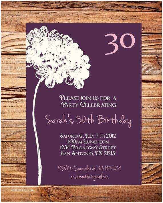 30th Birthday Invitations for Her 20 Interesting 30th Birthday Invitations themes – Wording