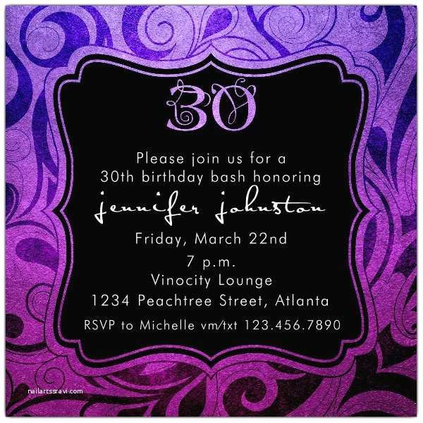 30th Birthday Invitations For Her Brilliant Emblem Party