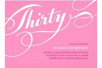 30th Birthday Invitations For Her Pink