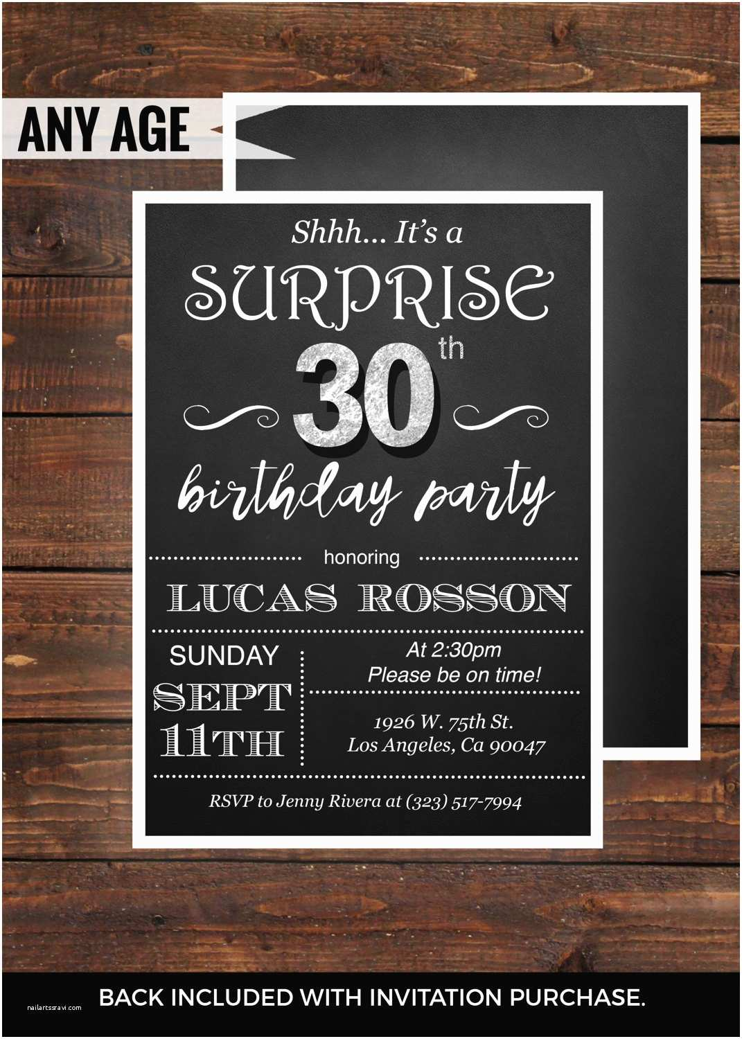 30th Birthday Invitations For Her Surprise Him By