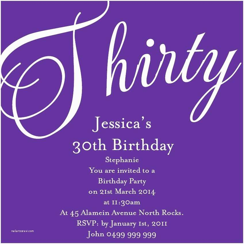 30th Birthday Invitations For Him Party Invitation Quotes Choice Image