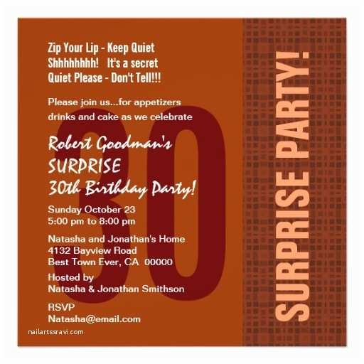 30th Birthday Invitations For Him Surprise Modern Recycled 5 25