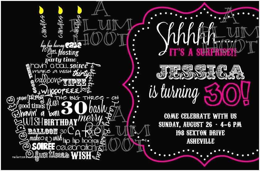 30th Birthday Invitations for Him 40th Birthday Ideas 30th Birthday Invitations Templates
