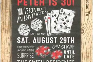 30th Birthday Invitations For Him Surprise Invitation