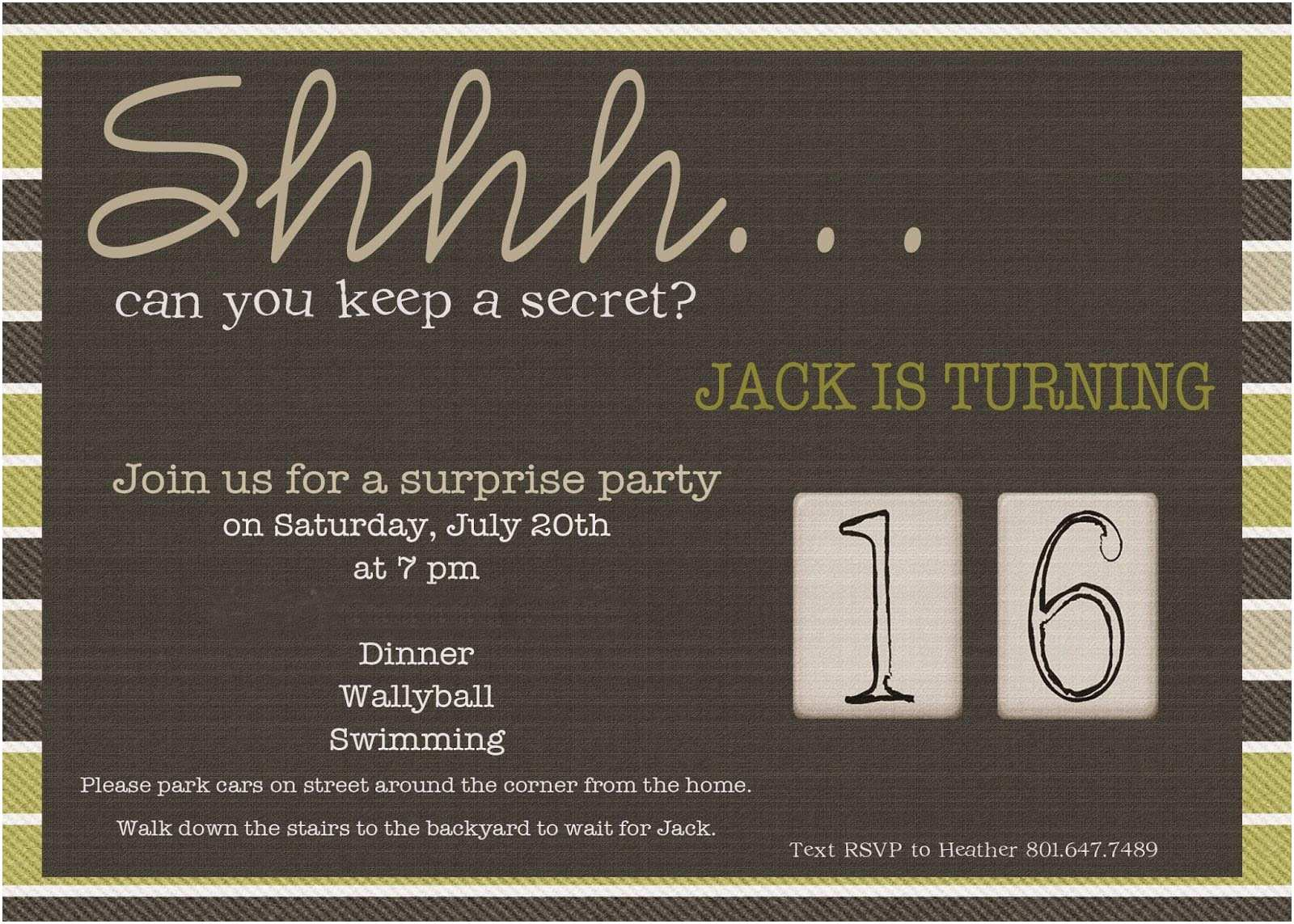 30th Birthday Invitations For Him Surprise 60th Party Invitation Wording Mickey
