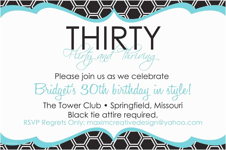 30th Birthday Party Invitations 20 Interesting 30th Birthday Invitations themes – Wording