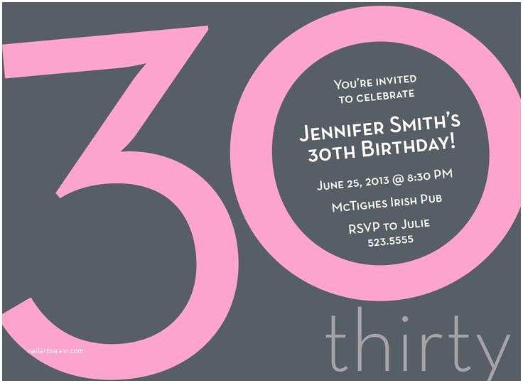 30th Birthday Party Invitations 20 Interesting Themes Wording