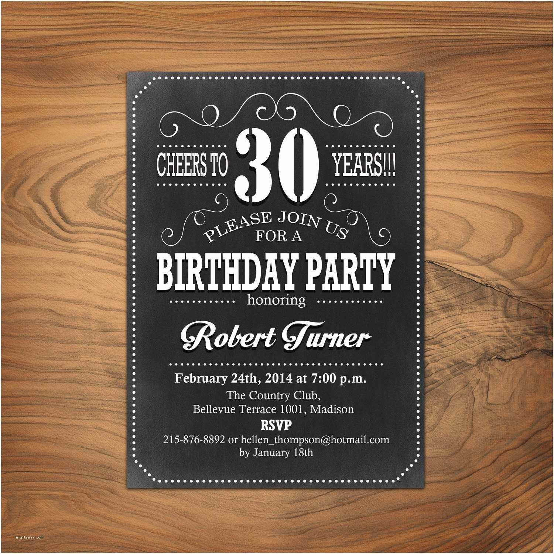 30th Birthday Party Invitations Invitation 40th 50th 60th Any Age