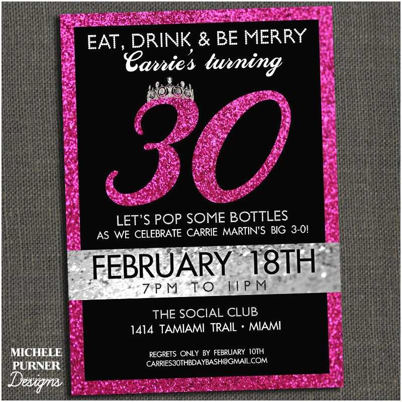 30th Birthday Party Invitations 40th Templates Ideas