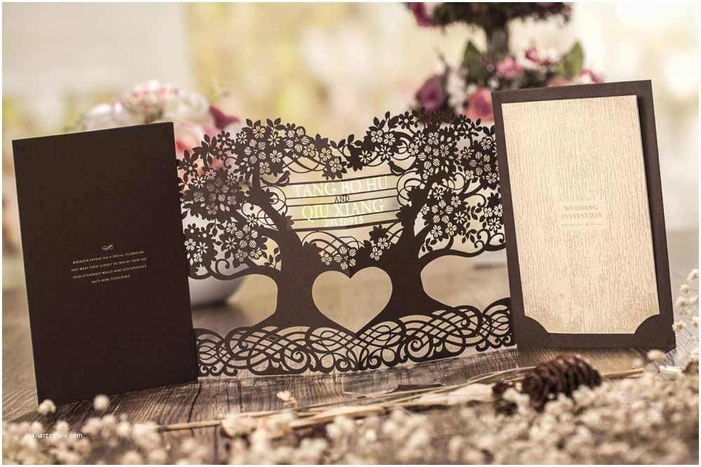 3d Wedding Invitations 3d Magic Tree Wedding Invitation Card Laser Cut Cw5023