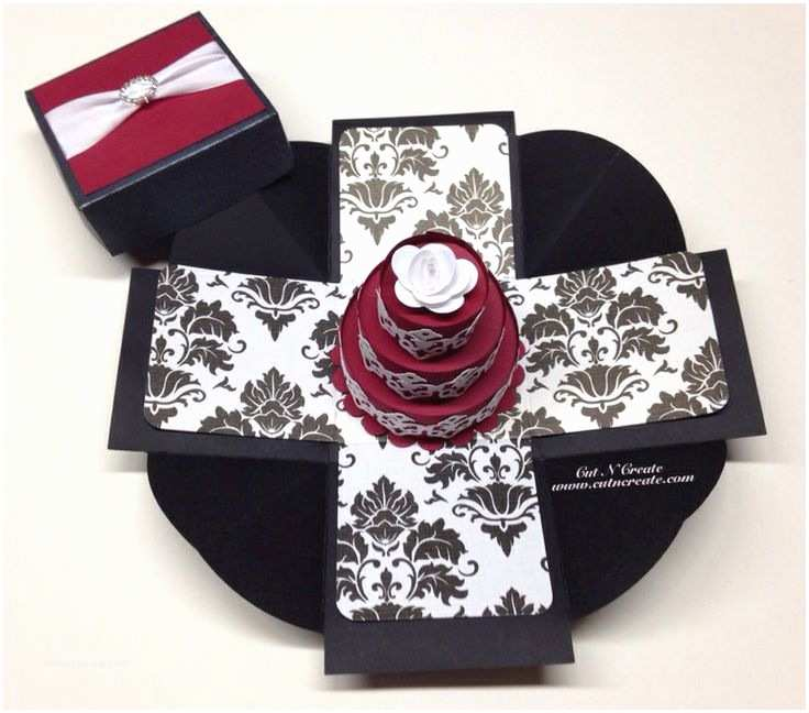 3d Wedding Invitations Exploding Box Wedding Invitation Created In Black and