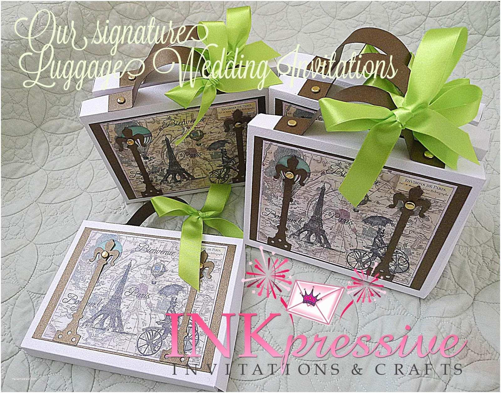 3d Wedding Invitations Wedding Invitations 3d Suitcase Pop Up The