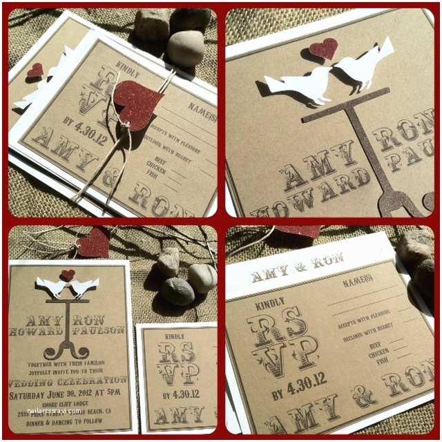 3d Wedding Invitations Wedding Invitations Eco Friendly 3d Love Birds by Kandvcrafts