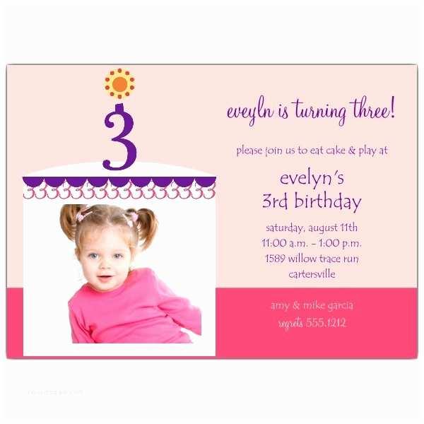 3rd Birthday Invitation Wording 3rd Birthday Invitation Wording