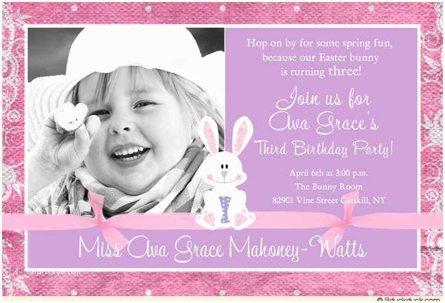 3rd Birthday Invitation Wording 3rd Birthday Party Invitation