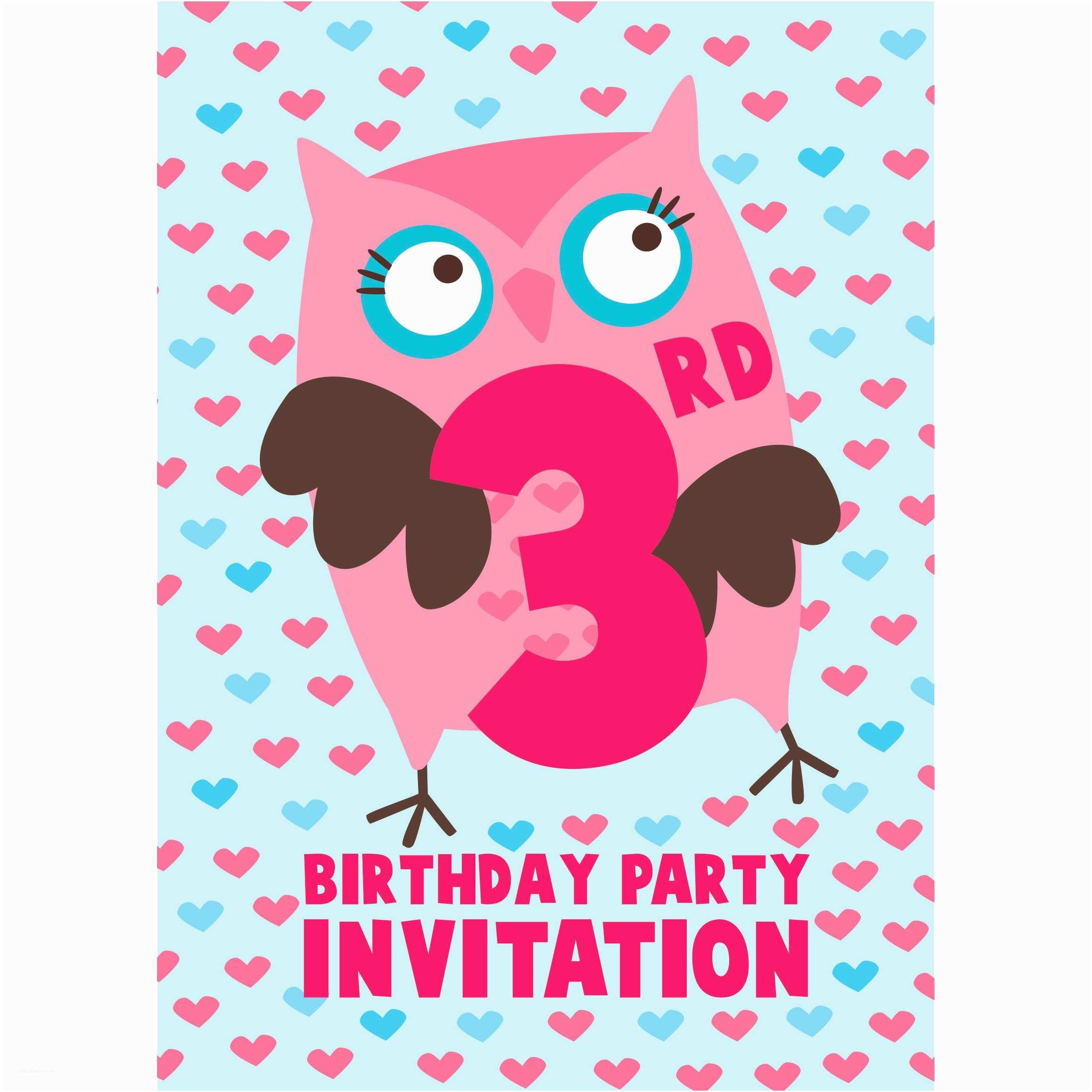 3rd Birthday Invitation Wording 3rd Birthday Party