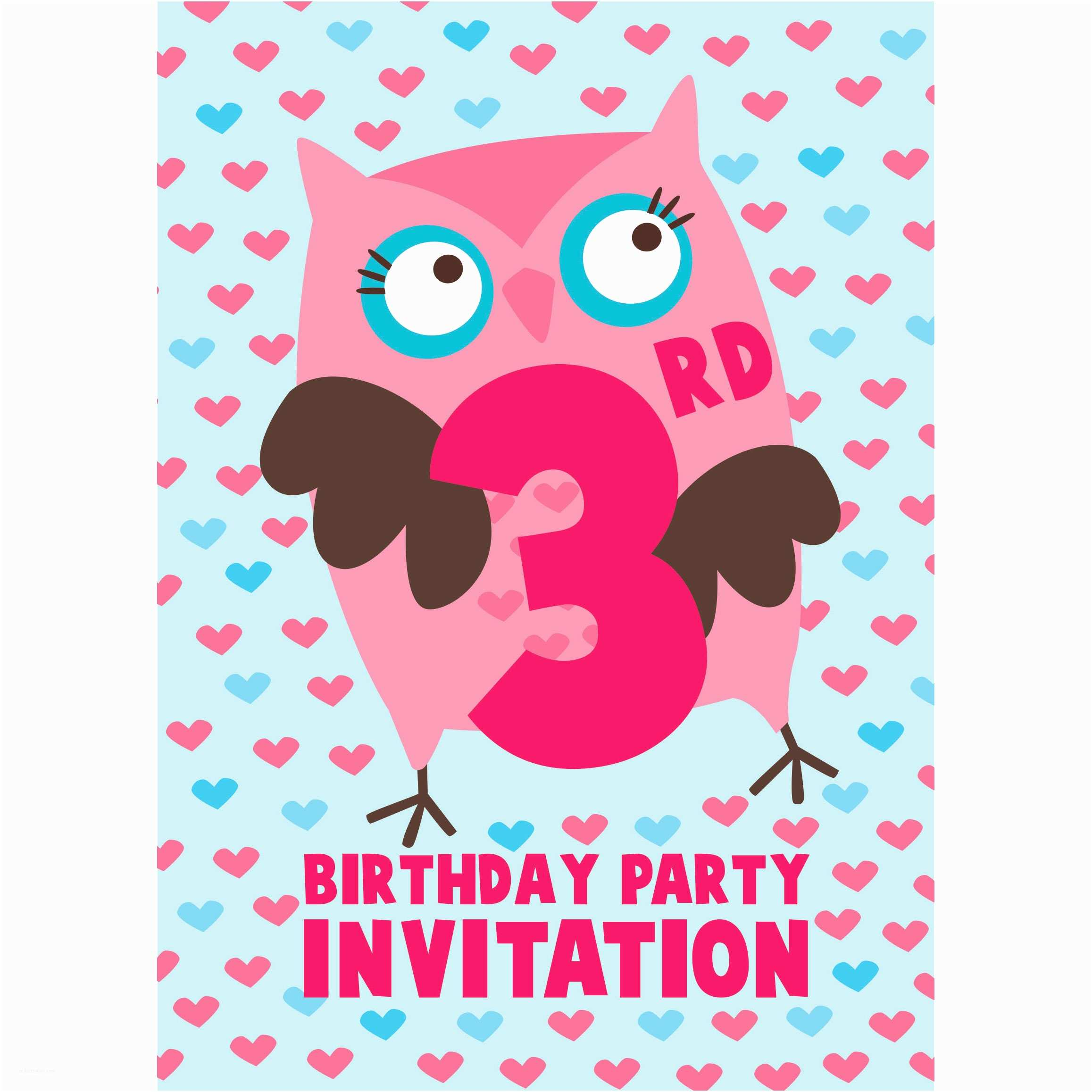 3rd Birthday Invitation Wording 3rd Birthday Party Supplies