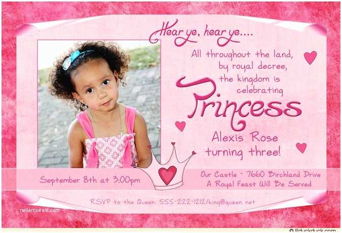 3rd Birthday  Wording Pink Princess 3rd Birthday Proclamation Royal