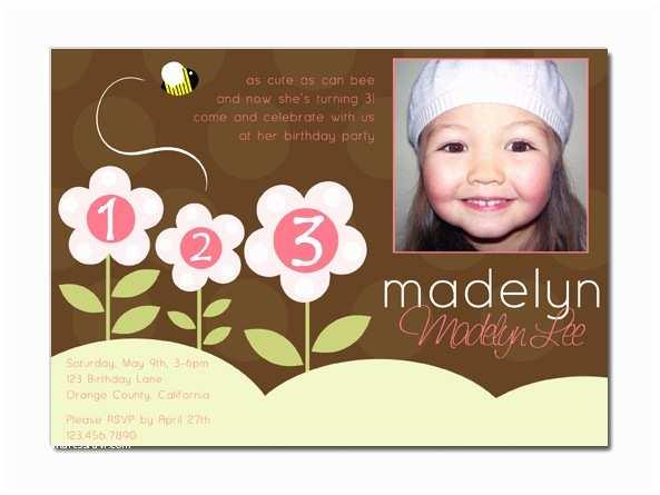 3rd  Invitation Wording Pretty In Prints Prettyinprints Madelyn's 3rd